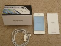 Apple iPhone 4 - 8GB - White (Unlocked) Smartphone. Good working order.