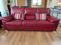 Immaculate Leather Sofa (3 seater/ x2 2 seaters)