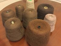 Wool (brown tones) 7 cones. Bargain price for all.
