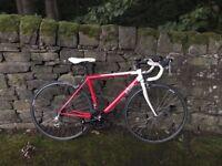 Light Aluminium Btwin Sport 1 Road Bike. 54cm frame. Hardly used.