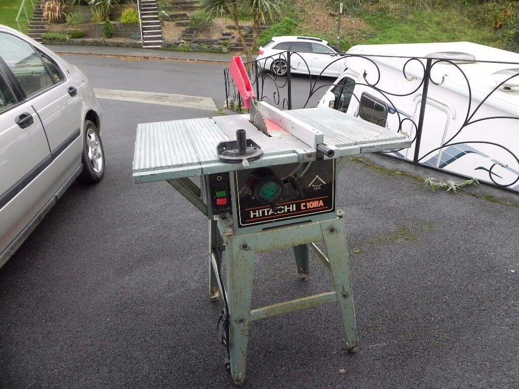 Power Saw Bench Hitachi C10ra Saw Diameter 255mm Sold