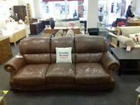 Brown suite (3 seater + armchair)