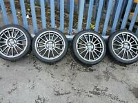 "17"" super turismo alloy wheels with tyres x 4"