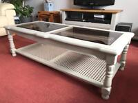 Vintage painted coffee table shabby chic