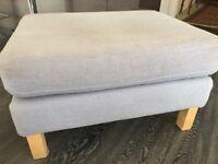 Ikea Footstool Grey with wooden legs