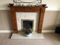 Fireplace and surround (Suncrest) for sale with accompanying manual. In very good condition.