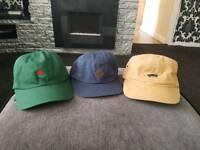 2x vans hats & 1x one hundred hat