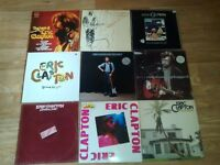 9 x eric clapton vinyl LP's - no reason / unplugged / just one night / behind the sun