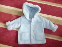 Marks and Spencer furry lined winter coat 6-12 months