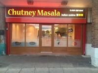 Busy Indian take away for sale