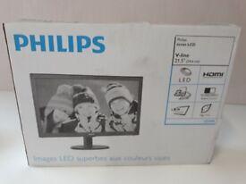 "Philips 223V5 22"" V-Line LCD Monitor Brand New in box"