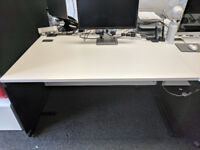 Matt White Office Desk - Good Condition.