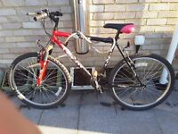 For sale 2 x bicyles 26 sizes