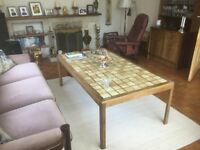 Coffee Table - Danish Mid Century Vintage Retro 1970s - Rosewood - Tiled Top