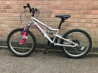 Apollo Pure girl's mountain bike - silver & pink - 20 inch wheels & 6 gears