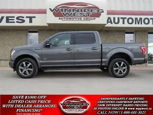 2016 Ford F-150 SPORT EDITION CREW 4X4 ECOBOOST,NAV,LOADED,LOW K