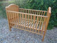 Mamas & Papas Pine Cot - £45 **FREE DELIVERY**