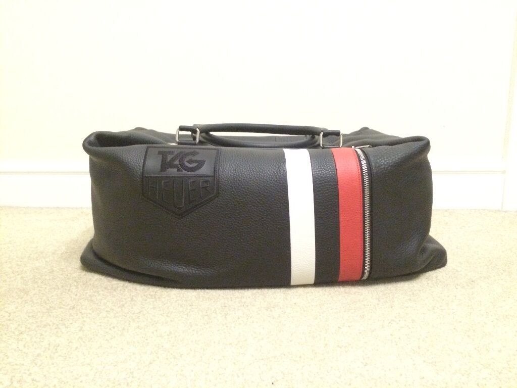 Brand New Tag Heuer Phantomatik Leather Travel Bag In Alford Space