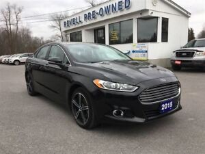 2015 Ford Fusion Titanium AWD  *1-owner, Moon, Lthr, Nav, Ecoboo