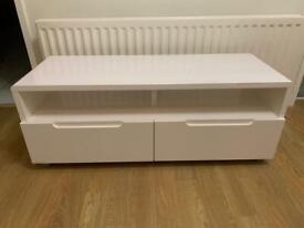 White high gloss tv cabinet IMMACULATE