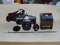 OLYMPUS OM2N SLR CAMERA & 50MM ZUIKO LENS, GOOD CONDITION - 2 OWNERS FROM NEW