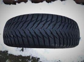 2 x Goodyear winter Ultra grip tyres.185 x 55 x R16