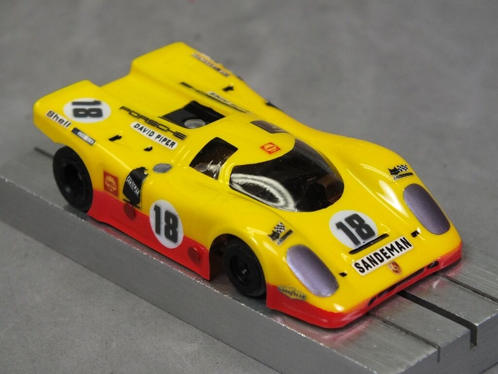 Car Parts - HO Slot Car Parts - HCS Porsche 917K Clear .010 Lexan Body Lot of 2 w/ MASK Kits