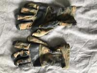 Genuine German Army Issue Cold Wether Goretex Flecktarn Combat Gloves Grade 1