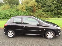 PEUGEOT 206 1.4 SPORT 05 REG IN ORCA BLACK ONLY 70400 MILES, PETER JAMES CARS 07867955762