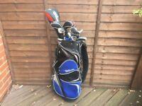 Golf clubs-full set of Wilson golf clubs, Driver, 3 & 4 Hybrids, Irons, Putter, Wilson bag & more