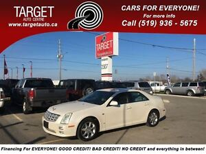 2007 Cadillac STS V6,Very Low Kms, Loaded; Leather, Navi Push Bu