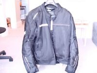 Frank Thomas Neptune Waterproof Black Motorcycle Jacket (Worn Once) Size Medium (40)