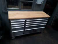 """Tool chest , tool box 55"""" stainless steel"""