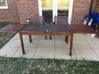 Garden Table and 2 garden chairs