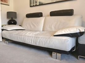 Leather DFS 3 Seater Sofa