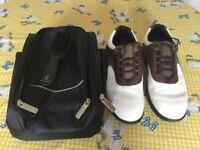Footjoy Golf Shoes Size 9 & Carrier Bag
