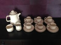 Denby coffee set Sahara pattern