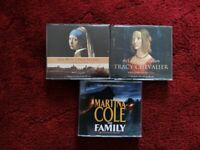 REDUCED - AUDIO BOOKS BY TRACY CHEVALIER & MARTINA COLE