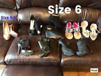 Ladies shoes - sizes 6 - 6.5