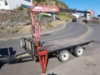 Ifor Williams 10x6 trailer with 1 ton hiab