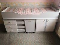 Children's Mid Sleeper Cabin Storage Bed *Mattress Included*