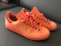 UNISEX Adidas Stan Smith Adicolor Reflective orange size 5 worn several times