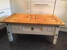 Coffee table painted in Laura Ashley