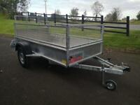 Trailer 7x4 single axle with mesh