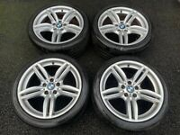 19'' GENUINE BMW 5 SERIES F10 F11 351 M SPORT ALLOY WHEELS TYRES ALLOYS 5X120