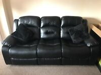 3 & 2 Leather Sofa Recliner (as new) Harvey Norman - 3 Months Old