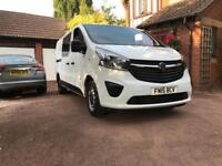 vauxhall vivaro crew cab 2015 1.6 bi turbo 6 speed tax mot low miles