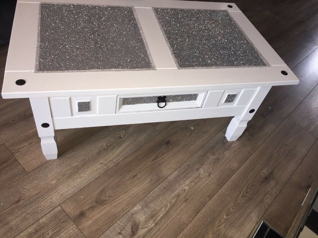 Gorgeous glitter coffee table