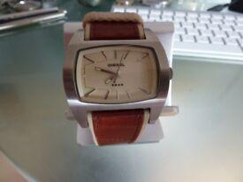 Mens Diesel Leather Strap Watch Model DZ2060