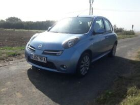 NISSAN MICRA SPORT + 1 YEARS MOT AND FULL SERVICE HISTORY.